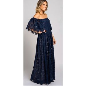 Vici Brand New Off the Shoulder Lace Maxi Dress